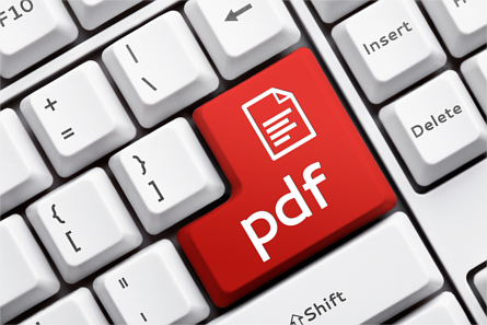 PDF button on a computer keyboard