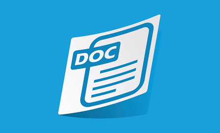 Floating Word document icon