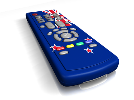 New Zealand flag printed onto a TV remote control