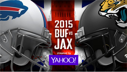 2015 Buffalo Bills (BUF) versus Jacksonville Jaguars (JAX), streamed by Yahoo