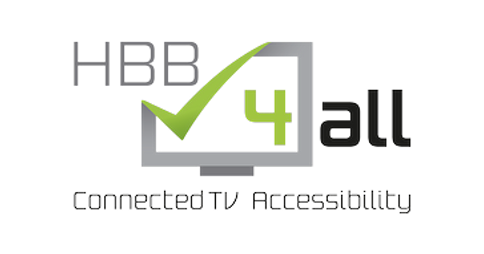 HBB4ALL: Connected TV accessibility logo