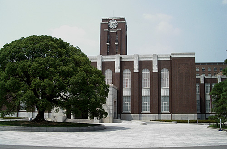 Camphor tree in front of the Clock Tower at Kyoto University