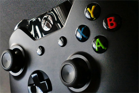 Close-up of an Xbox One controller