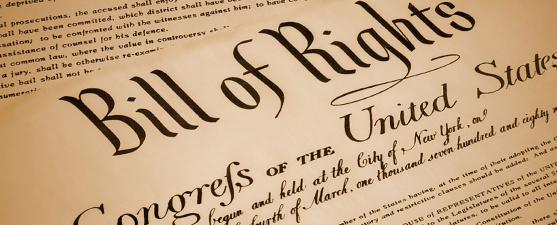 Image of original US Bill of Rights