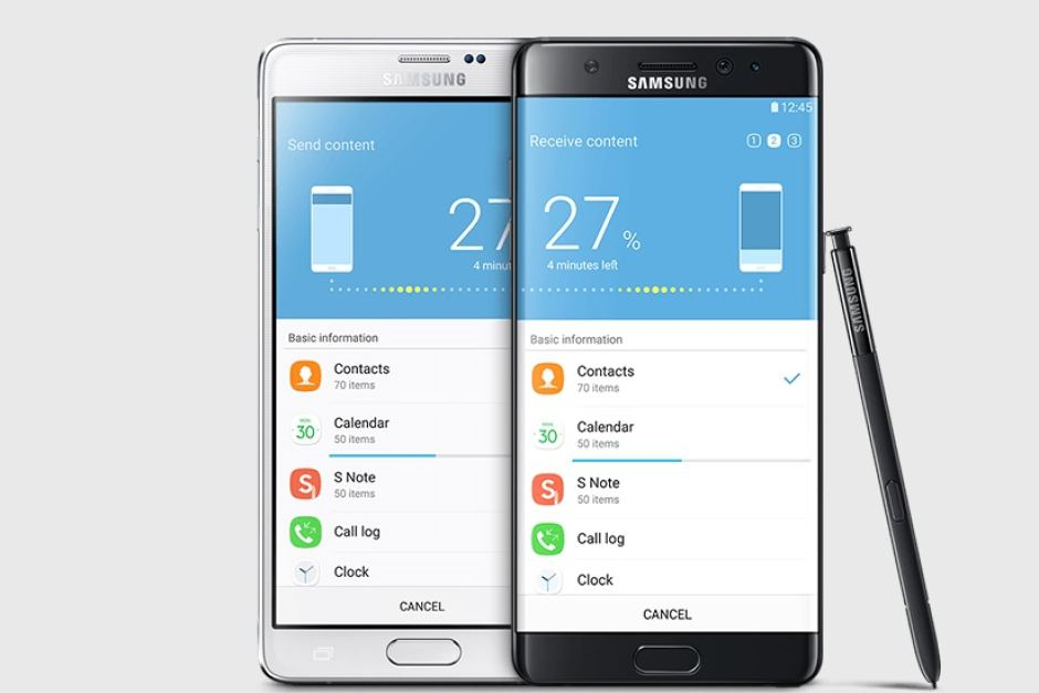 Two Samsung Note7 phones
