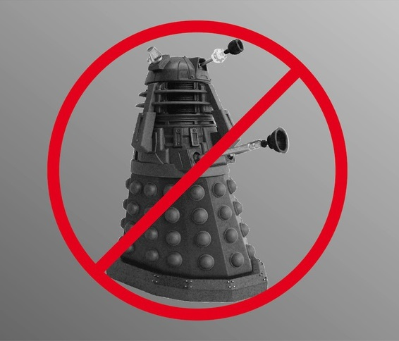 Image of circle crossed robot dalek