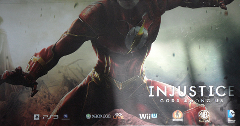 Injustice: Gods Among Us poster featuring The Flash. Image credit: wiiu-spiele.com