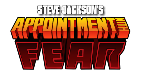 Steve Jackson's Appointment with F.E.A.R. logo. Image credit: Tin Man Games