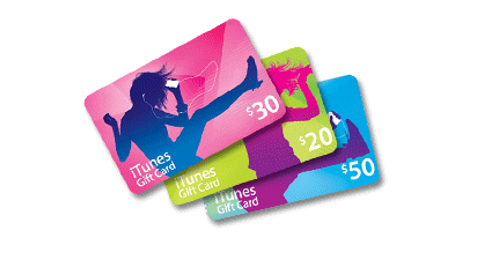 iTunes $30, $20 and $50 gift cards