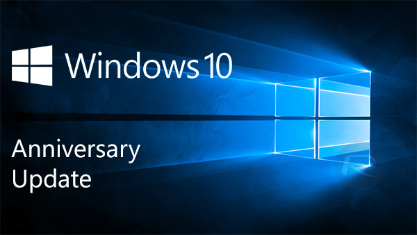 Image of the words 'Windows 10 Anniversary Update'